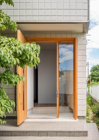 玄関 (アトリエのある家 HouseNK)