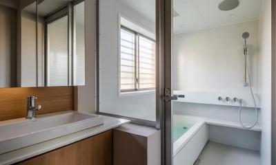 アトリエのある家 HouseNK (脱衣洗面所・浴室)