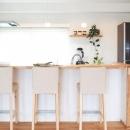 会話を楽しめる対面キッチン