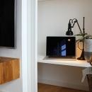 テレビ裏の隠し収納
