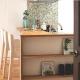 キッチンのモザイクタイル (家族構成に合わせたマンションリノベーション)
