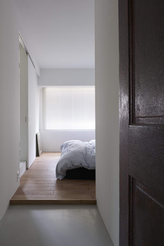 K邸-そしてタイルは「SUBWAY CERAMICS」 (ベッドルーム)