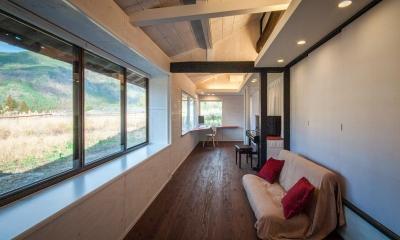 可動間仕切の一室空間 ( 間仕切CLOSE ) 美山のK邸改修