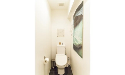 M邸-黒板塗装の壁でLDKと遊びスペースに (トイレ)