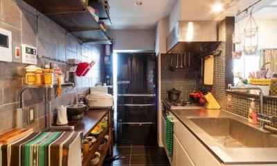 A邸-全部取っ払ってワンルームにしてみたら (キッチン)