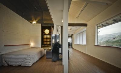 寝室 + リビング|美山のK邸改修
