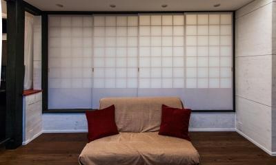 ソファスペース|美山のK邸改修