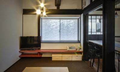 既存大梁のある居間 美山のK邸改修