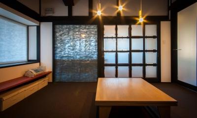 美山のK邸改修 (居間 + ダイニングキッチン ( 間仕切CLOSE ))