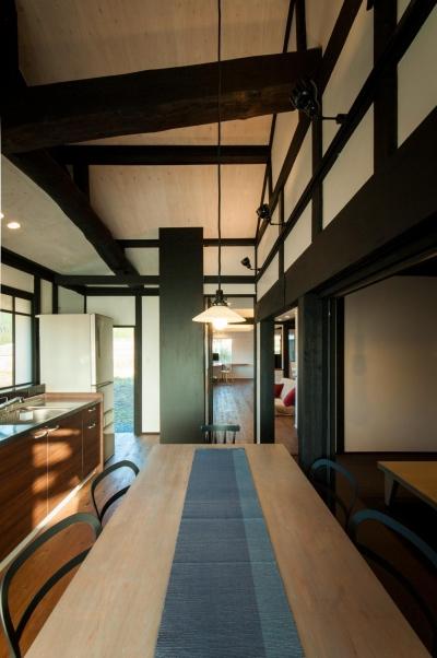 天井の高いダイニングキッチン (美山のK邸改修)