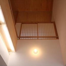 居間の吹き抜け (奈良の家   K 邸     2014)