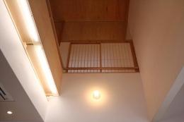奈良の家   K 邸     2014 (居間の吹き抜け)