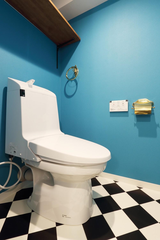 愛猫との暮らしを考えた素敵な空間 (トイレ)
