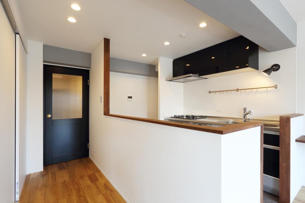 愛猫との暮らしを考えた素敵な空間 (キッチン)