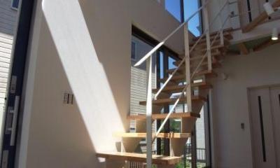 開放的なオープン型階段|MIMEはうす