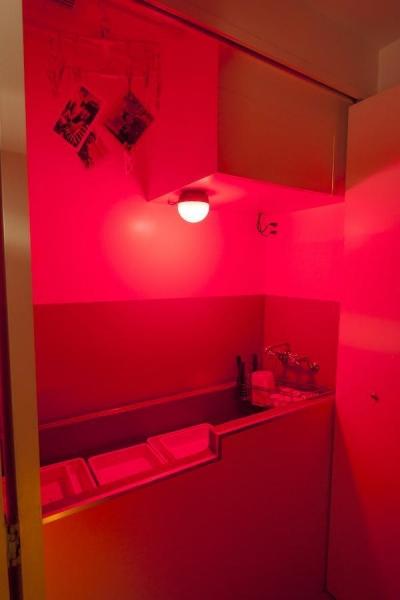 サニタリー (Y邸-写真現像用の暗室と広めの玄関を)