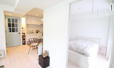 明るい寝室1|北欧×フレンチアンティーク風へ、全面リノベーション!