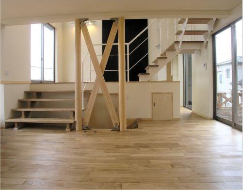 zekkeiハウスの部屋 スキップフロアの空間