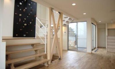 スキップフロアとクライミングウォール|zekkeiハウス