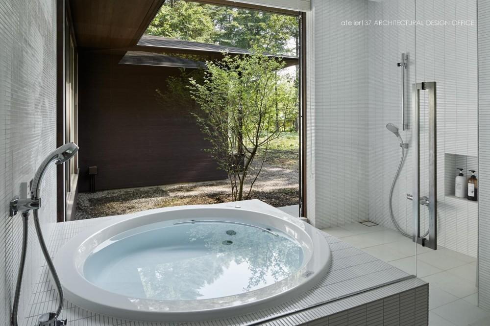 041軽井沢Mさんの家 (浴室)