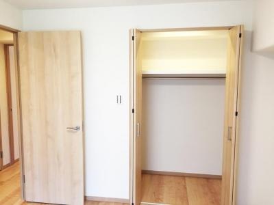 洋室のウォークインクローゼット (納戸とWIC+クローゼットで約7帖分の収納スペース)