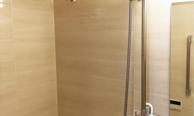 納戸とWIC+クローゼットで約7帖分の収納スペース (バスルーム)