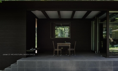 041軽井沢Mさんの家 (テラス)