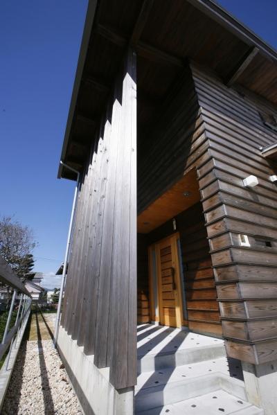 片流れ屋根の家 (外観)