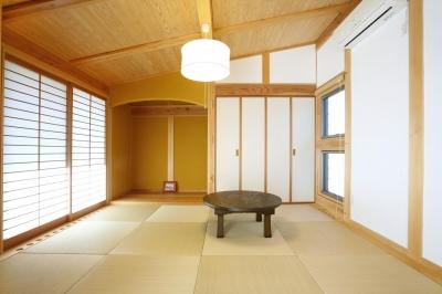 和室 (片流れ屋根の家)