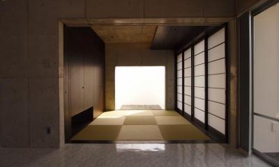 和モダンな和室|糸満の住宅
