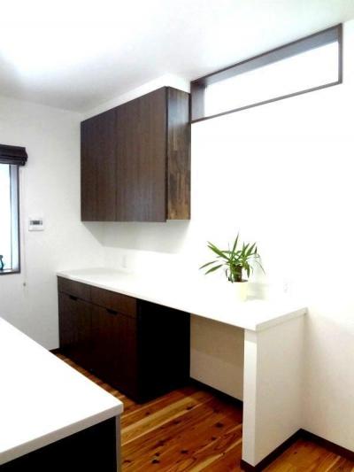 キッチン (ダブルの断熱で1年中快適な住まい)