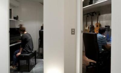 RESONANCE -58m²に、二つの音楽スタジオが (スタジオ)
