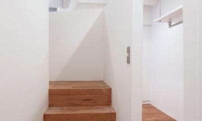 DIP-箱の中に箱がある47m²のワンルーム (寝室)