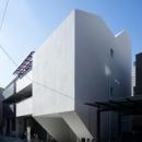 阿倍野の家の写真 プライバシーを守る造形的な外観