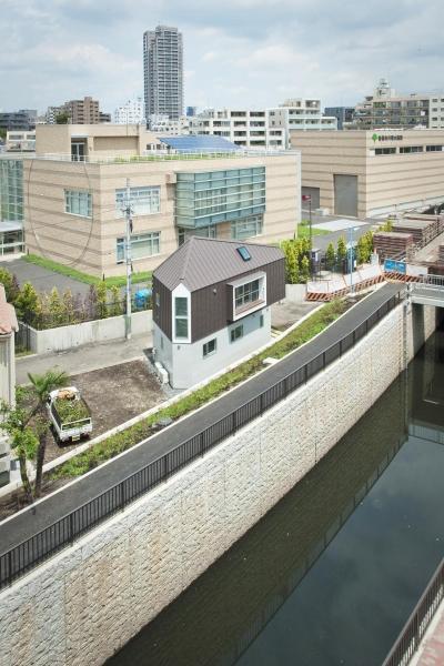 堀ノ内の住宅 (南西側鳥瞰)
