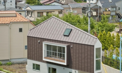堀ノ内の住宅 (南東側鳥瞰)
