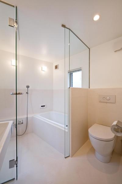 洗面所・浴室 (堀ノ内の住宅)