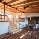 新庄のスキップハウスの写真 一体感のあるスキップフロア空間