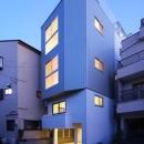 豊里のリノベーションの写真 4階建ての二世帯住宅リノベーション住宅-ライトアップ