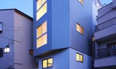 豊里のリノベーション (4階建ての二世帯住宅リノベーション住宅-ライトアップ)