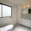 豊里のリノベーションの写真 シンプルなトイレと洗面室