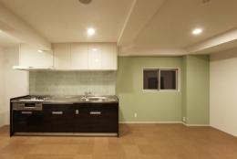 豊里のリノベーション (親世帯のキッチン)