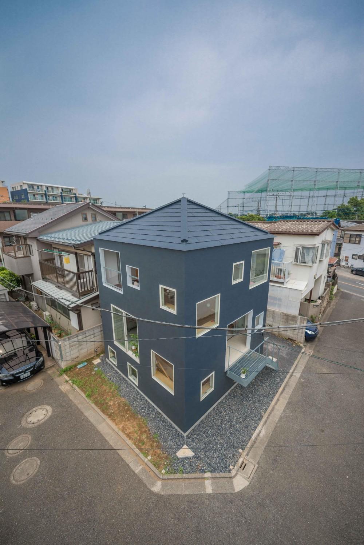 北烏山の住宅 (南東側鳥瞰)