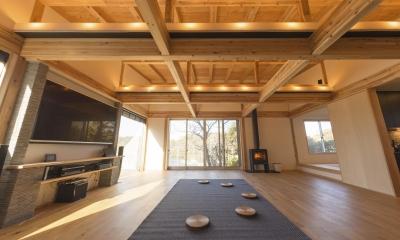 安心という贅沢を。自然エネルギーだけで生活できる家 (リビングスペース)