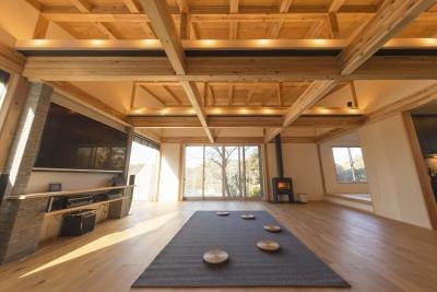 リビングスペース (安心という贅沢を。自然エネルギーだけで生活できる家)