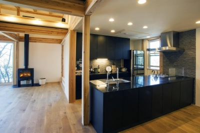 キッチン (安心という贅沢を。自然エネルギーだけで生活できる家)