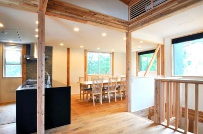 安心という贅沢を。自然エネルギーだけで生活できる家 (キッチンダイニング)
