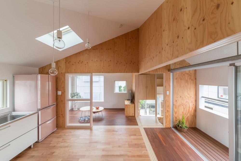 北烏山の住宅 (食堂より2階全景)