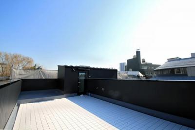 ルーフバルコニー (大田区A様邸 中庭のある3階建ての家)