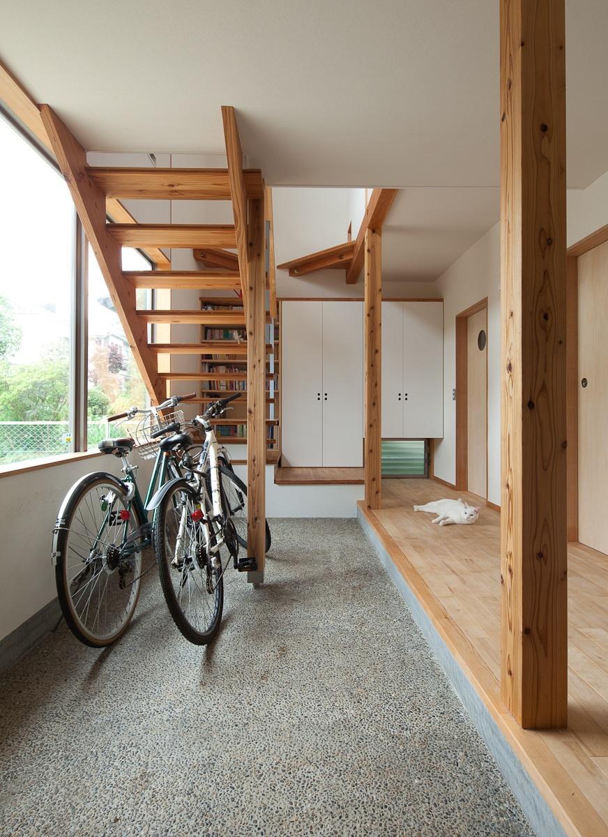 船橋・猫と暮らす家の部屋 広々とした玄関土間